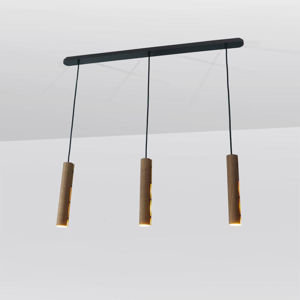 fuga teak tripendel hanglamp
